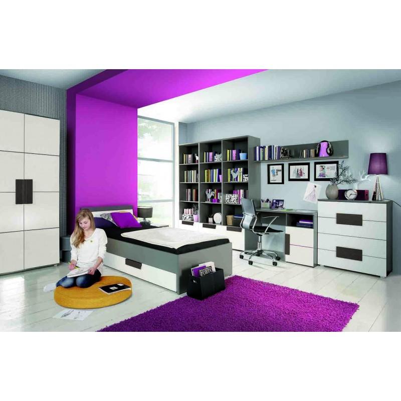 table de chevet rangement chambre enfant libelle. Black Bedroom Furniture Sets. Home Design Ideas
