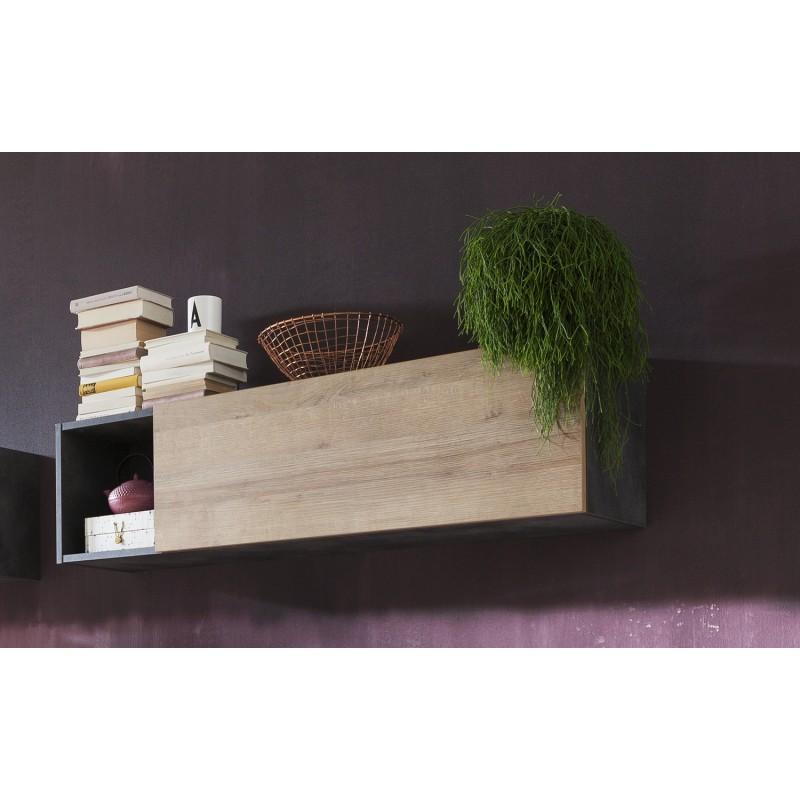 meuble mural rangement contemporain victoria belhome. Black Bedroom Furniture Sets. Home Design Ideas