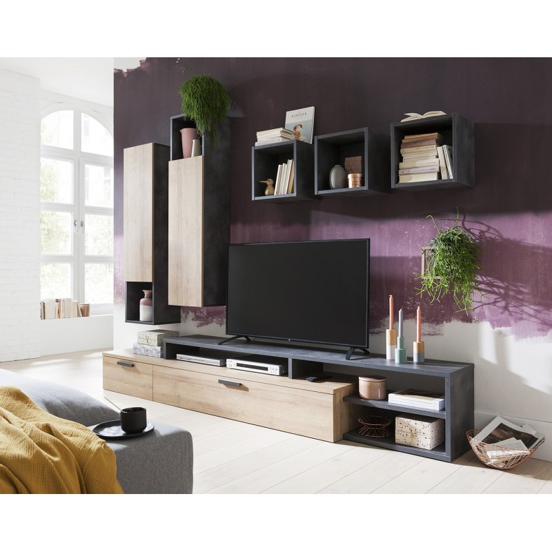 meuble tv design contemporain victoria belhome. Black Bedroom Furniture Sets. Home Design Ideas