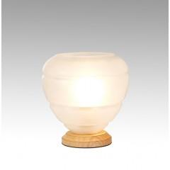 Lampe à poser en verre BLANC OPAQUE - CHAMPI