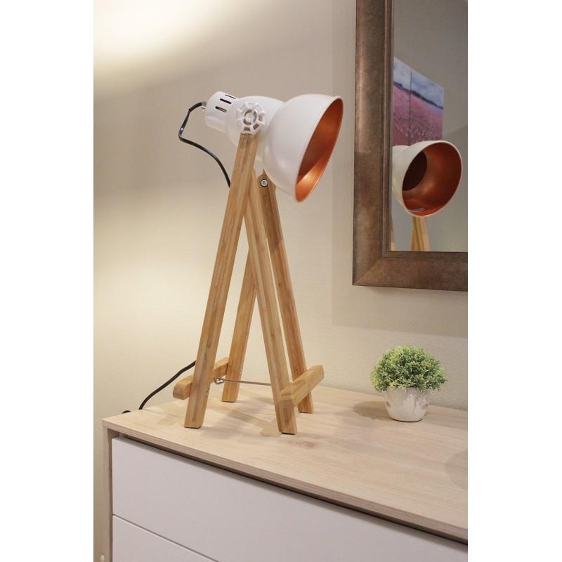 Acier Déco Poser À Support Blanc Lampe Projecteur qzGSpUMV
