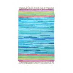 Tapis bleu  60 x 90 - coton recyclé - MOOREA