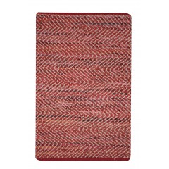 TAPIS  rouge 60 x 90 cuir - motif triangle - HYPNOTIQUE