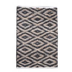 Tapis noir coton 60 x 90 - MANDEL