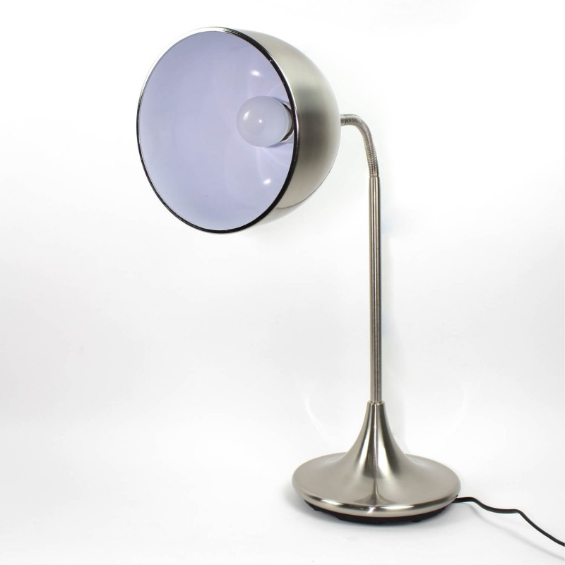 Métal À Poser En Lampe Finition Satiné Flexible Nickel F1clKJ