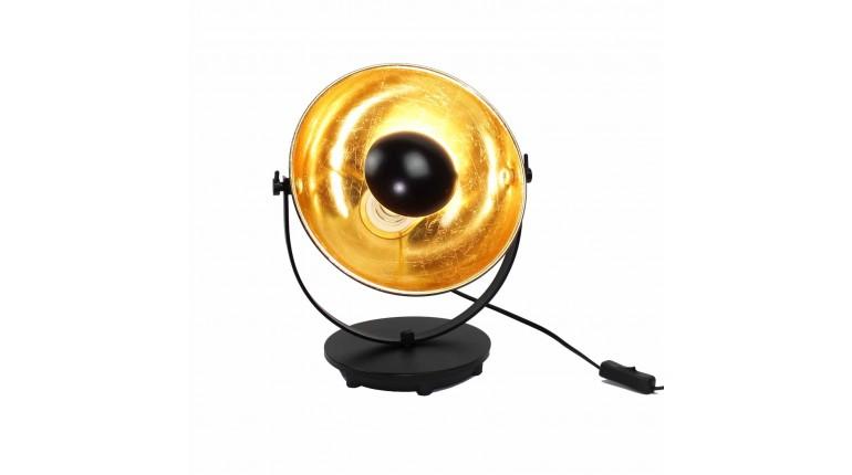 Lampe Noir Socle Or Industriel Projecteur Ajustable Avec Style Et drCxeBWQo