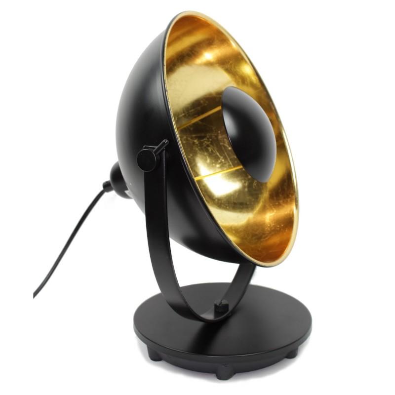 Lampe Projecteur Style Industriel Avec Socle Ajustable Noir Et Or