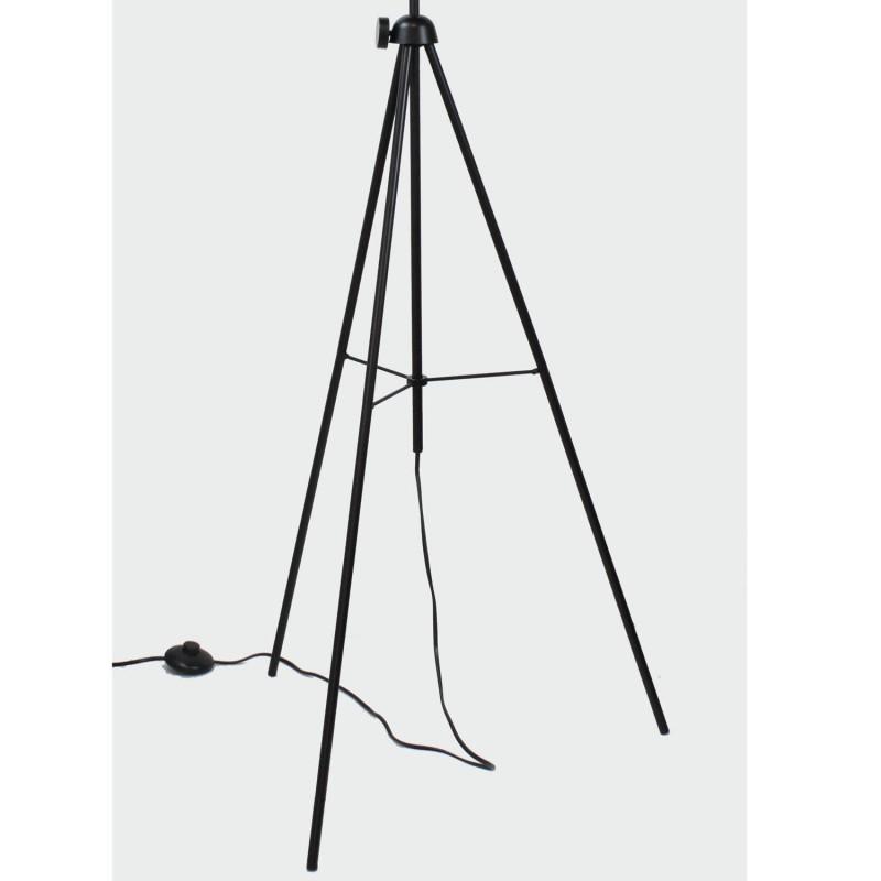 lampadaire tr pied style industriel noir et or grand mod le. Black Bedroom Furniture Sets. Home Design Ideas