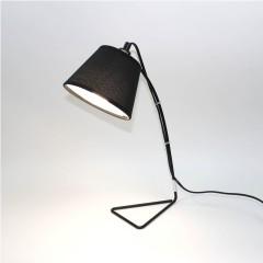 Lampe de chevet métal et tissu - NOIR