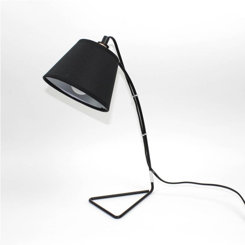 Lampe De Chevet Metal Et Tissu Noir