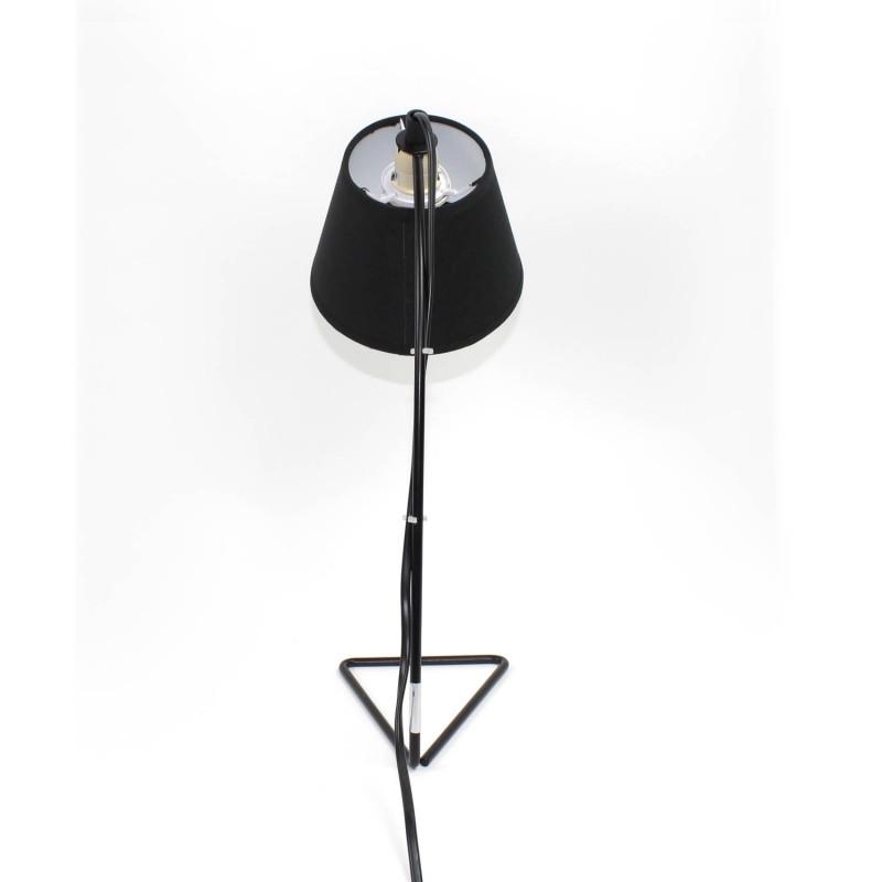 lampe de chevet m tal et tissu noir. Black Bedroom Furniture Sets. Home Design Ideas