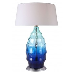 Lampe à poser en verre bleu - ARTIFICE