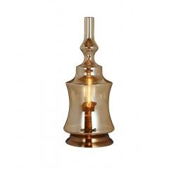 Lampe à poser en verre fumé décorative– ALADIN