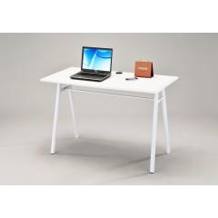 BUREAU trépied 120 cm blanc pied métal - OFFICE