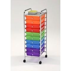 Armoire à roulette multicolore