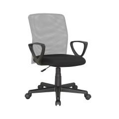 Fauteuil de bureau bicolore noir /gris réglable - dossier tissu mesh - STENO
