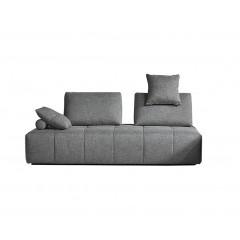 Canapé 3 places modulable tissu gris confortable dossiers amovibles - salon méridienne - SUDOKU