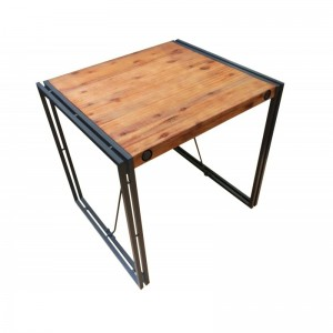 Table fixe style industriel 80X70cm - ATELIER