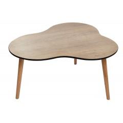 Table basse vintage bois trépied - CLOUD