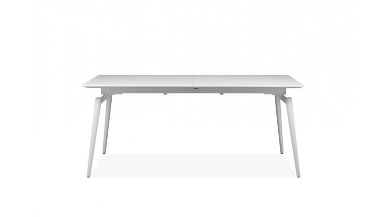 Table Blanche Et Pieds Extensible Métal Laquée Norway Yf6bg7y