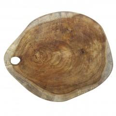 Planche à découper en teck au design naturel - résistante et hygiénique - WOOLY