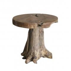 Tabouret en racine de teck -meuble style exotique, cosy naturel, chalet chic - CEVINS