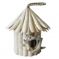 Nichoir maison à oiseaux en teck - HOUSSY