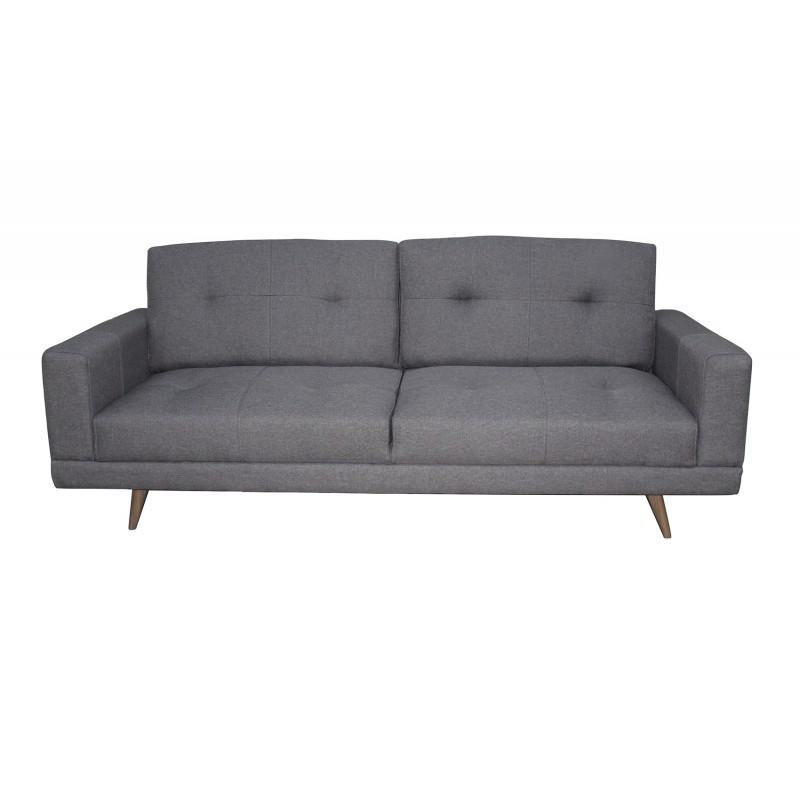 Canapé convertible tissu gris 3 places - ELVIS
