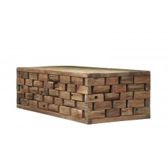 Table basse rectangulaire contemporaine en bois recyclé - ORIGIN