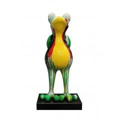 Statue grenouille debout resine deco