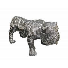Statue bulldog décoration argentée H42 cm  - DOGARGEN