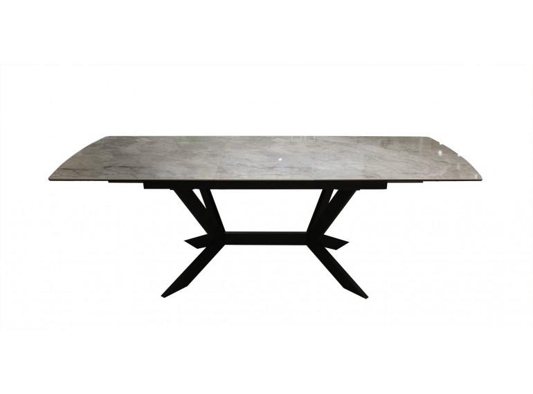 Table extensible en céramique rectangulaire effet marbre brillant - FIRENZE
