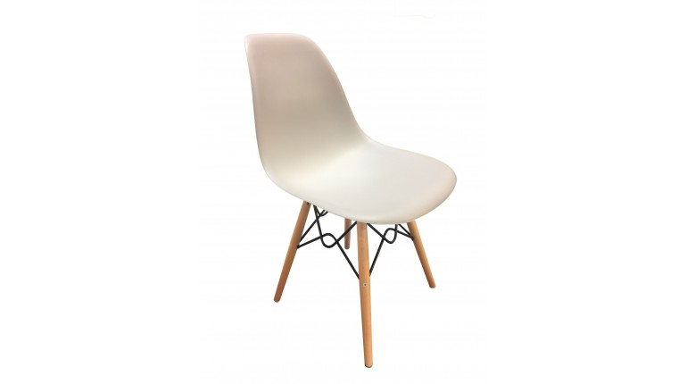 Chaise scandinave design blanche - RETRO