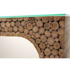 Console en bois massif de teck - KELAN