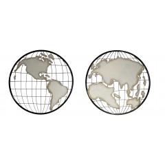 Tableau Cartes du monde en métal - déco murale - MAPPEMONDE