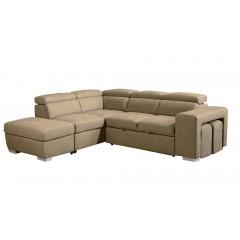 Canapé d'angle convertible gauche et coffre de rangement  - DALLAS