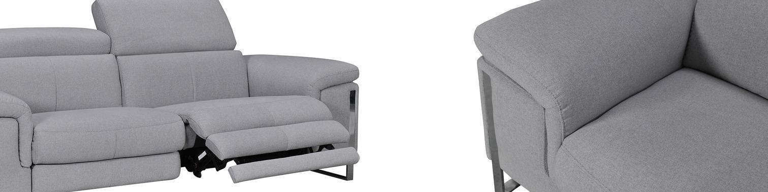 Canapé relax électrique 2 places en tissu- APOLLO